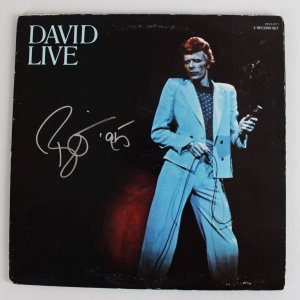 SB **1974 David Live at the Tower Philadelphia - David Bowie Signed Album Record Cover (JSA Full LOA)