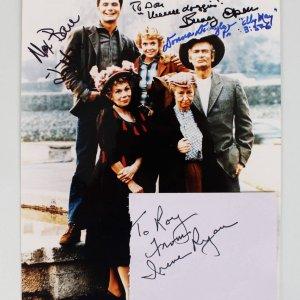 Beverly Hillbillies - Cast Signed 8x10 Photo & 3x5 Cut (JSA)