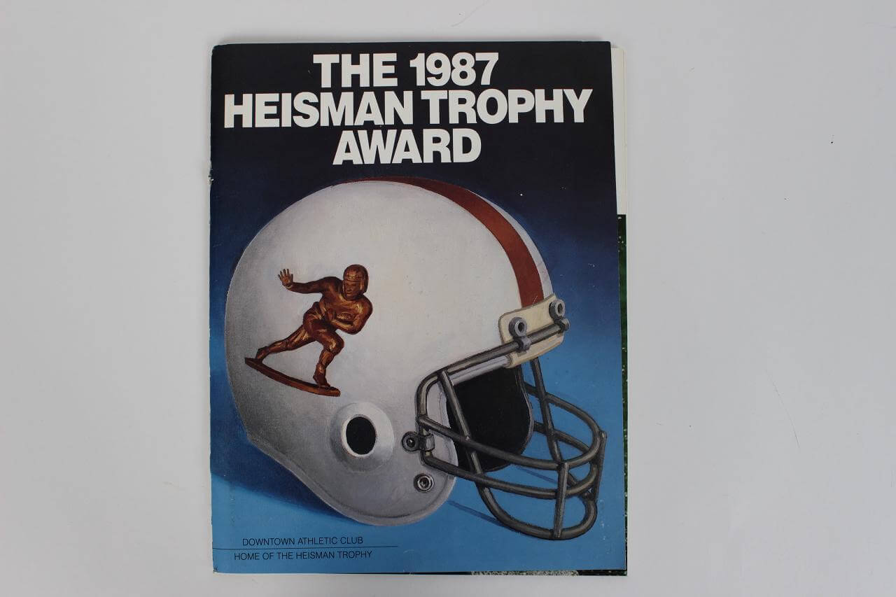 1987 Heisman Trophy Award Signed Program Incl. John Lujack, Leon Hart, George Webster, Hopolong Cassidy etc. Also incl. Mary Lou Retton Signed Sheet85137_01_lg