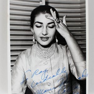 Maria Callas Signed & Inscribed Original B & W Photo