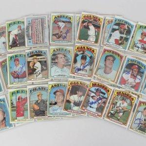 1972 Topps Baseball Signed Card Lot (99) – Lou Brock, Joe Torre, Gaylord Perry etc.