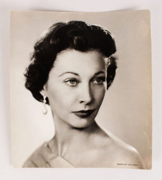 1954 Vivien Leigh Chlorobromide Vintage Portrait By Dorothy Wilding