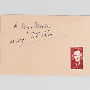T.S Eliot American Poet Signed Cut Album Page