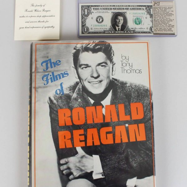 "President Ronald Reagan Signed ""The Films Of Ronald Reagan"" Book - JSA Full LOA"