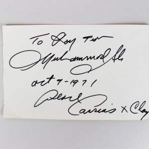 Vintage Muhammad Ali Peace Cassius x Clay Signed & Inscribed Cut Album Page