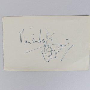 Laurence Olivier & Vivien Leigh Signed 4x6 Vintage Cut- JSA Full LOA