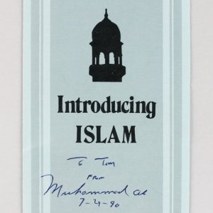 "Muhammad Ali Signed & Dated ""Introducing Islam"" Pamphlet - JSA Full LOA"