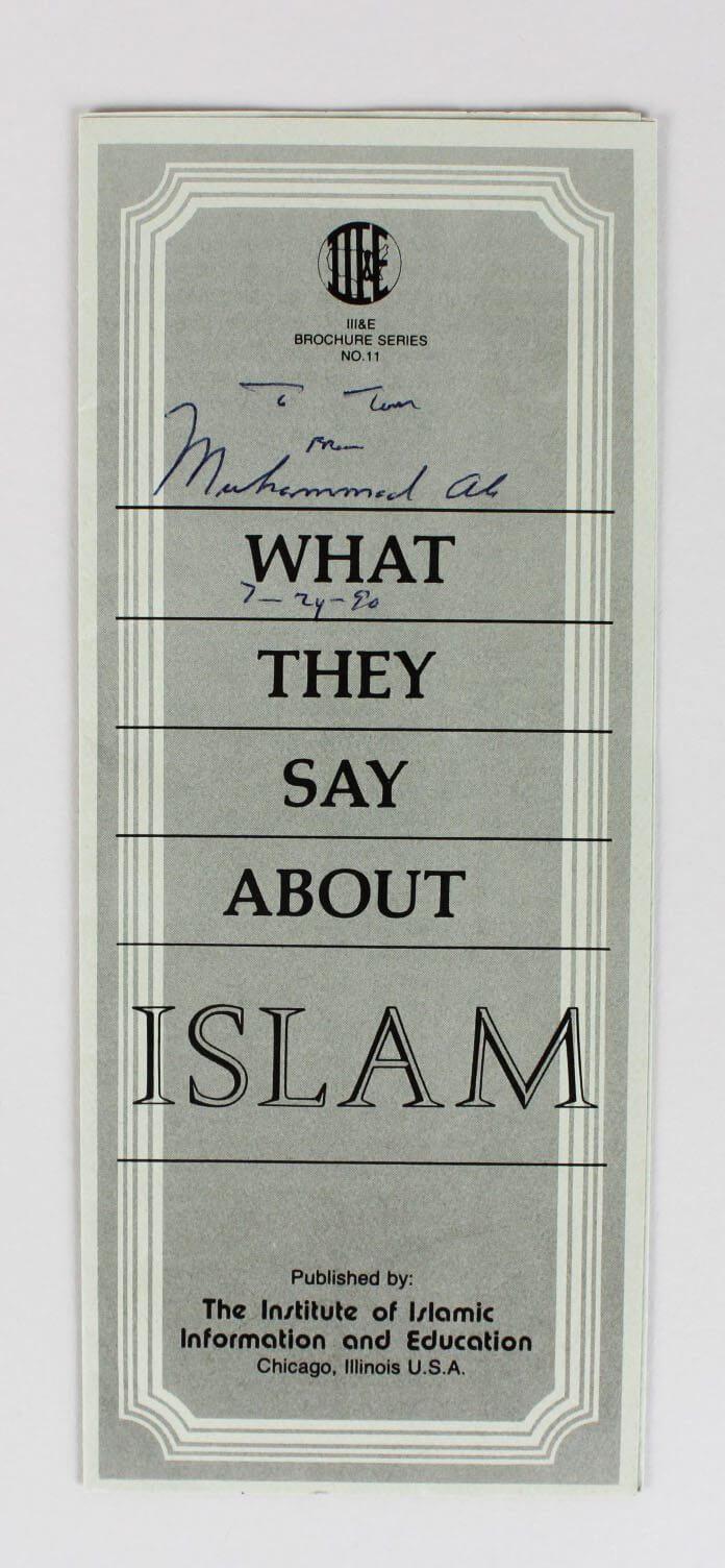 Muhammad Ali Signed Pamphlet - COA JSA