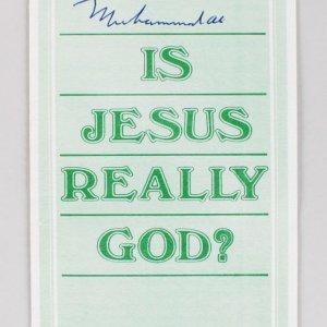 "Muhammad Ali Signed ""Is Jesus Really GOD?"" Pamphlet - JSA Full LOA"