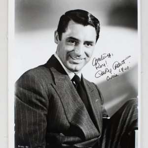 Notorious - Cary Grant Signed & Inscribed 8x10 Circa Photo (JSA Full LOA)