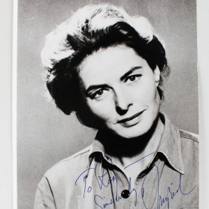 Casablanca - Ingrid Bergman Signed & Inscribed 8x10 Photo (JSA Full LOA)