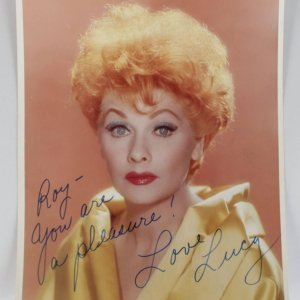 I Love Lucy - Lucille Ball Signed & Inscribed 8x10 Photo (JSA Full LOA)