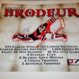 New Jersey Devils Martin Brodeur signed Canvas