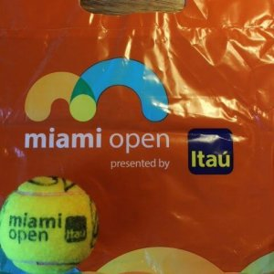A Game-Used 2016 ATP Miami Open Tennis Match Ball.  Signed by Federer, Nadal & Djokovic.