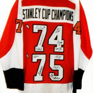 Philadelphia Flyers 1974-1975 Team Signed Jersey