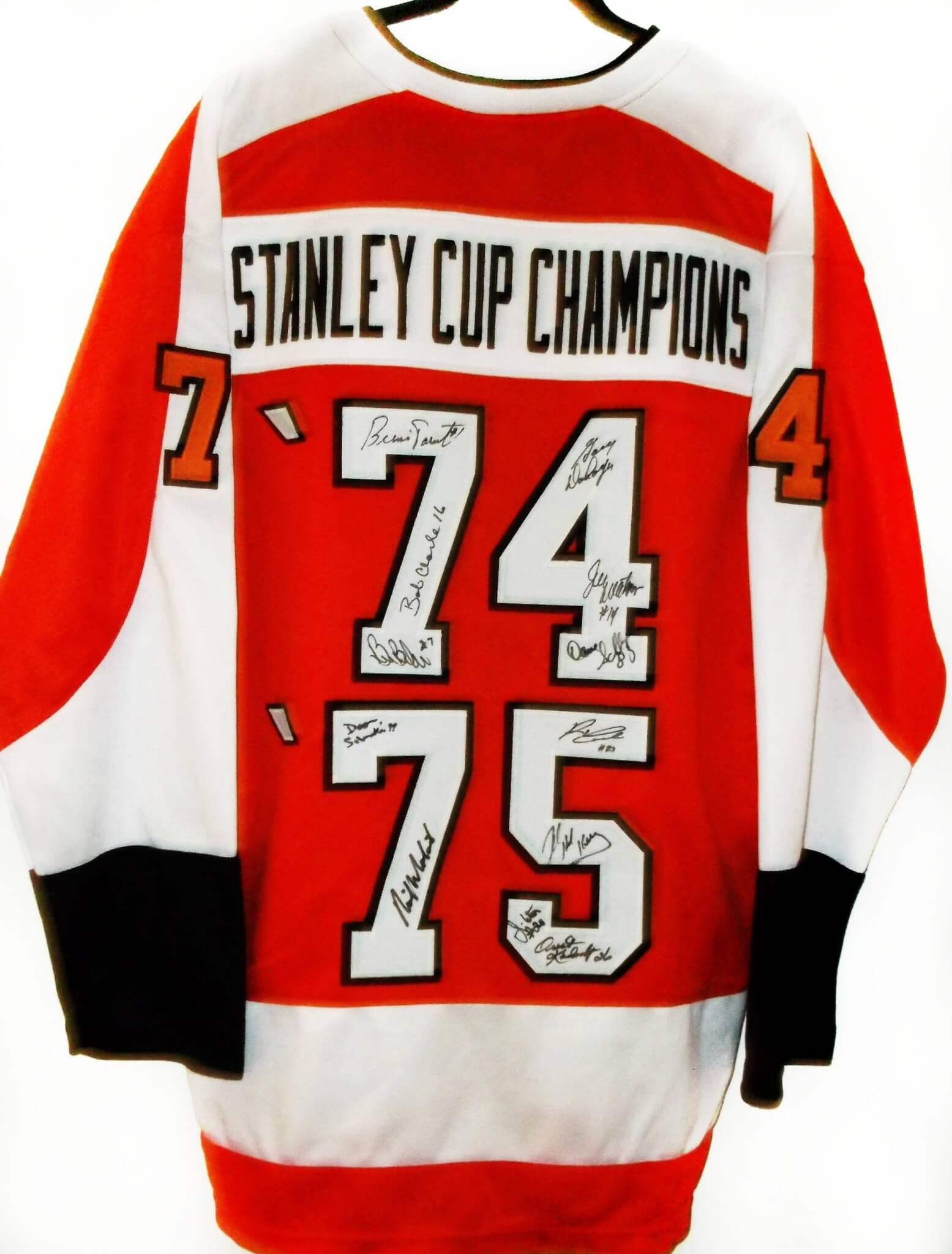 newest collection 0c62c 9692b Philadelphia Flyers 1974-1975 Team Signed Jersey