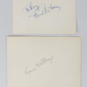 Fred Astaire & Gene Kelly Signed Vintage Album Page Cuts - COA JSA