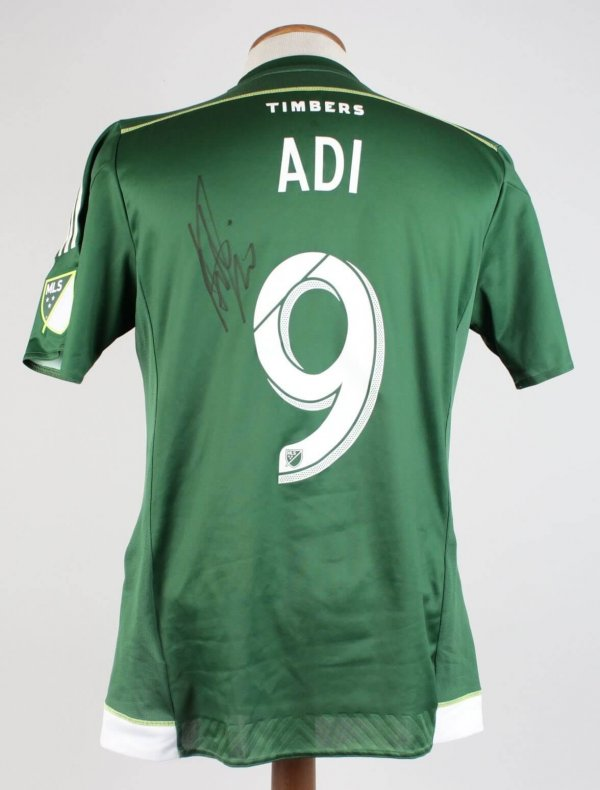 2015 Portland Timbers Fanendo Adi Match Worn, Signed Jersey Vs. Columbus Crew on Sept. 16