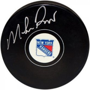 New York Rangers Mike Richter signed puck