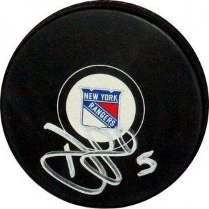 New York Rangers Dan Girardi signed puck
