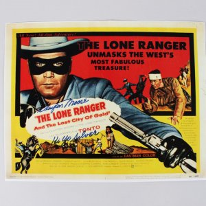 "The Lone Ranger Clayton Moore Signed, Inscribed ""Hi Yo Silver"" 11x14 Photo (JSA)"