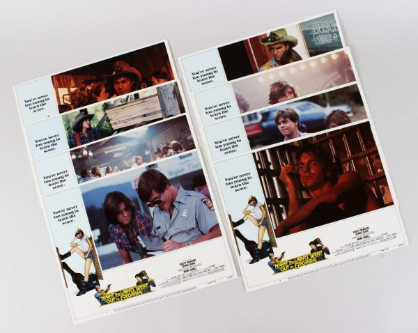 1981 The Night the Lights Went Out in Georgia - Lobby Card Lot