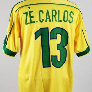 1998 FIFA World Cup Ze. Carlos Match Worn Jersey Shirt