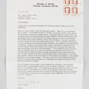 Nobel Prize for Literature - Pearl S. Buck Signed Typed Letter (JSA COA)
