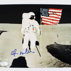 Astronaut - Edgar Mitchell Signed Apollo 14 Mission Photo (JSA COA)