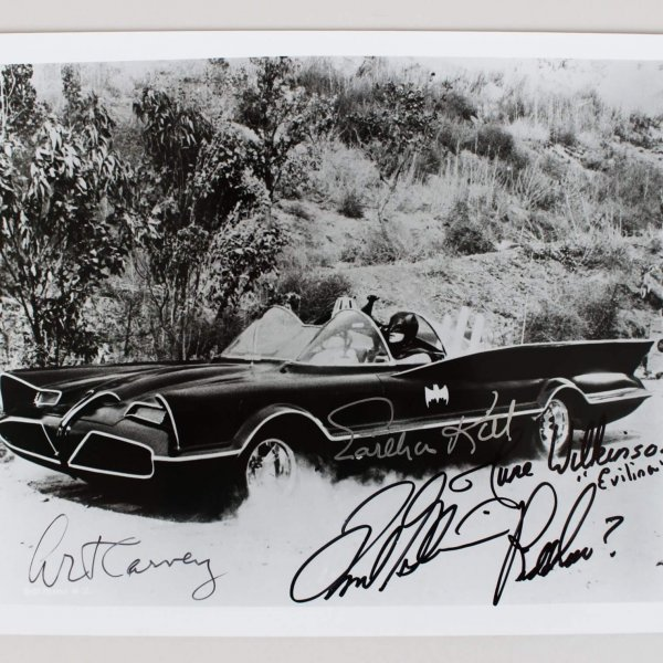 Batman TV Series Signed 8x10 Photo - Kitt, Gorshin, Carney, Wilkinson- COA JSA
