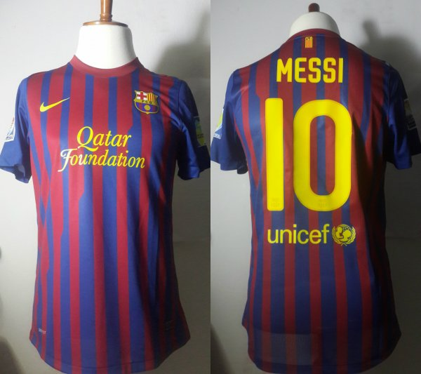 A Neymar Game-Used Unwashed #11 FC Barcelona Home Shirt 10/17/2015 LaLiga vs Rayo Vallecano