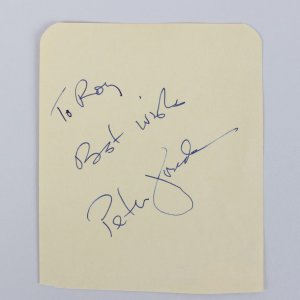 Easy Rider - Peter Fonda Signed & Inscribed 3x4 Vintage Cut - COA JSA