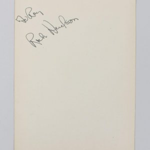 Magnificent Obsession - Rock Hudson Signed 4x6 Vintage Cut (JSA COA)