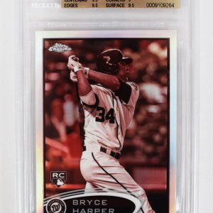 2012 Topps Chrome - Nationals - Bryce Harper Sepia Refractor 44/75 Rookie Baseball Card (#196 - Graded BGS 9.5)