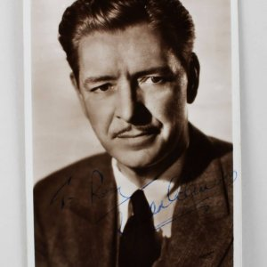 A Double Life - Ronald Colman Signed 3x5 Picture Post Card - COA JSA