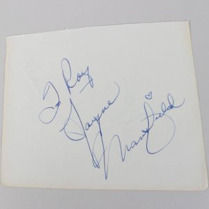 The Girl Can't Help It - Jayne Mansfield Signed 5x6 Vintage Cut (JSA Full LOA)