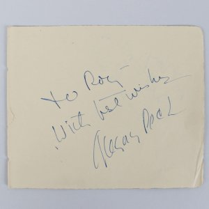 To Kill a Mockingbird - Gregory Peck Signed & Inscribed 5x6 Cut- COA JSA