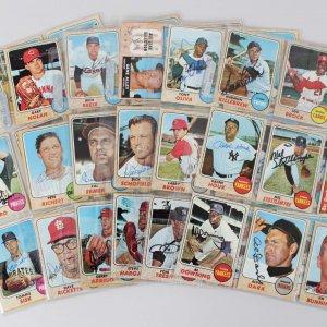 1968 Topps Baseball Signed Card Lot (99) - Harmon Killebrew, Lou Brock, Jim Perry etc.