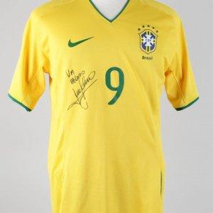 2008-09 World Cup Qualifier Brazil - Luis Fabiano Match-Worn, Signed Jersey Shirt (JSA)