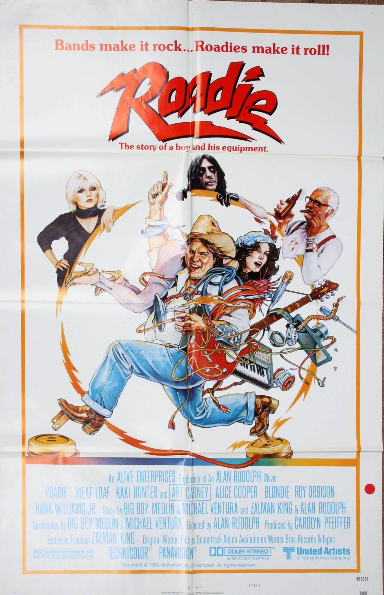 Roadie Movie Poster Meat Loaf Alice Cooper