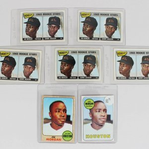 Houston Colt .45s - Reds - Joe Morgan Baseball Card Lot Incl. (5) 1965 Topps Rookies, 1968 & 1969