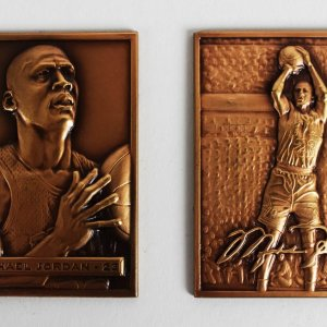 1996 Chicago Bulls - Michael Jordan LE Bronze Mini Mint Card Set 1122/5000
