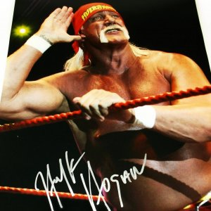WWE Legend Hulk Hogan Signed 16x20 Photo
