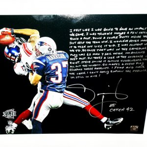 New York Giants David Tyree inscribed signed 16x20