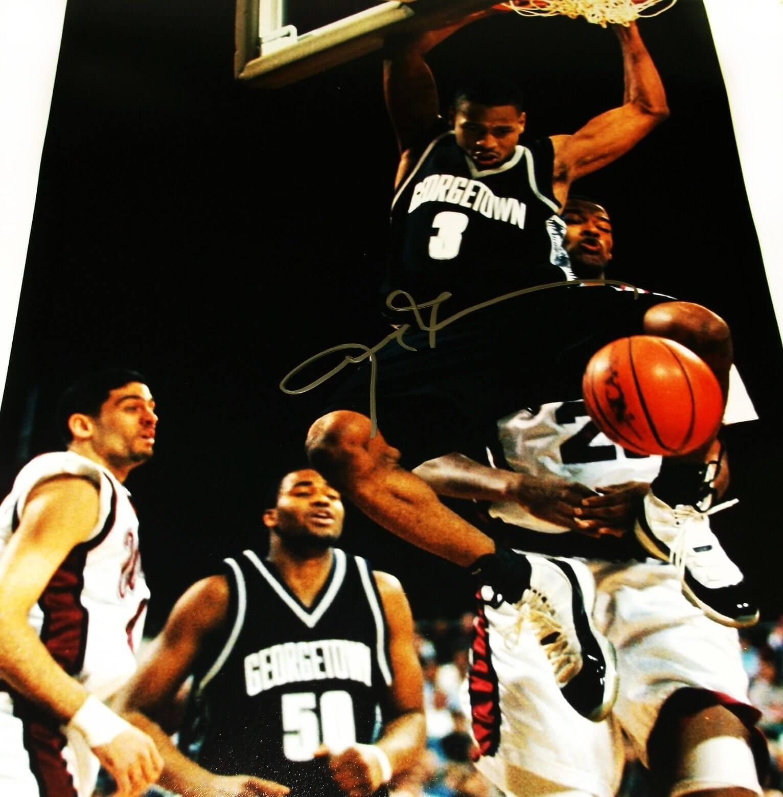 Allen Iverson Signed 16x20 Georgetown Photo
