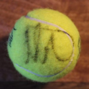 A Maria Sharapova Game-Used & Signed Official Tennis Match Ball.  2012 London Olympic Games.  Women's Singles Gold Medal Match.