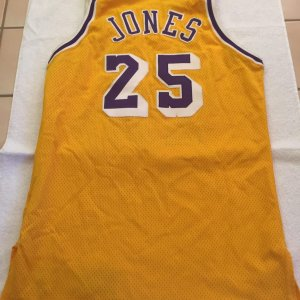 Eddie Jones 95-96 Game-Worn Yellow Home Jersey Size 44 Ex +3