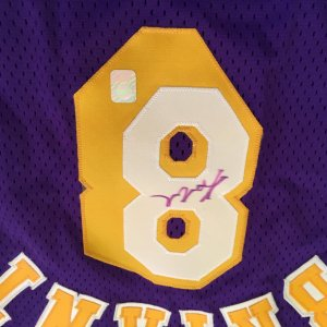 Kobe Bryant signed 96-97 Pro Cut Rookie Jersey Size 44 Ex +3 (Player Hologram)