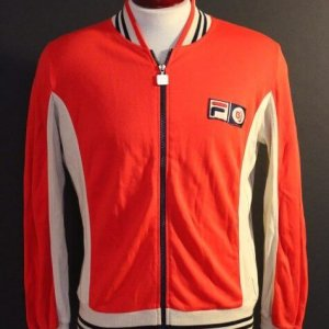 A Bjorn Borg Game-Used FILA Tennis Jacket.  Includes Signed Photograph.  1970's.