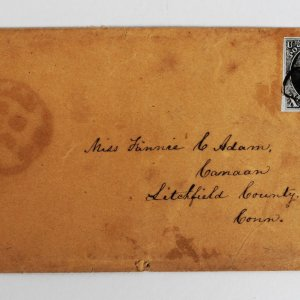 US 1847 10 Cent Scott 2 George Washington Stamp on Cancelled Cover